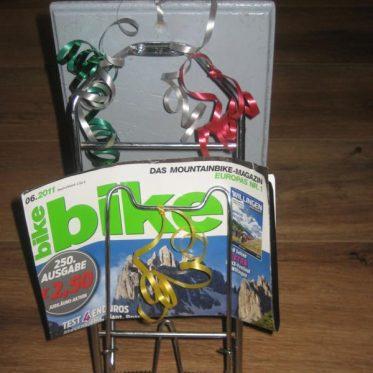 Zeitschriftenhalter Gepäckträger Fahrrad