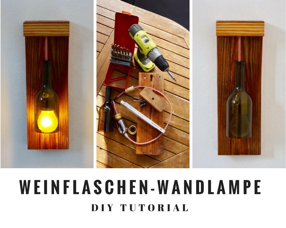 Weinflaschen-Wandlampe