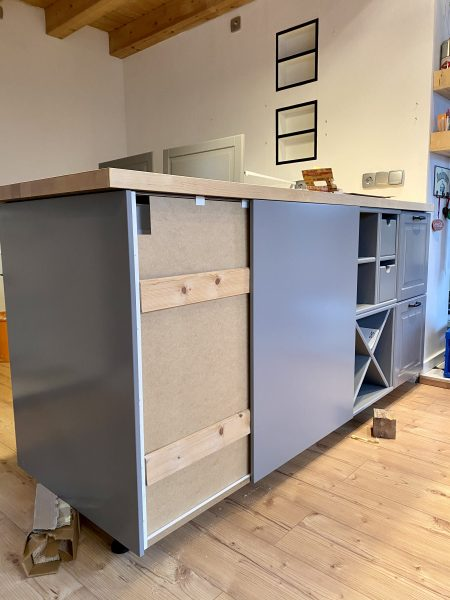 Küchenblock verkleiden