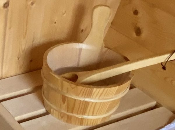 barrel sauna Ofen und Aufguss