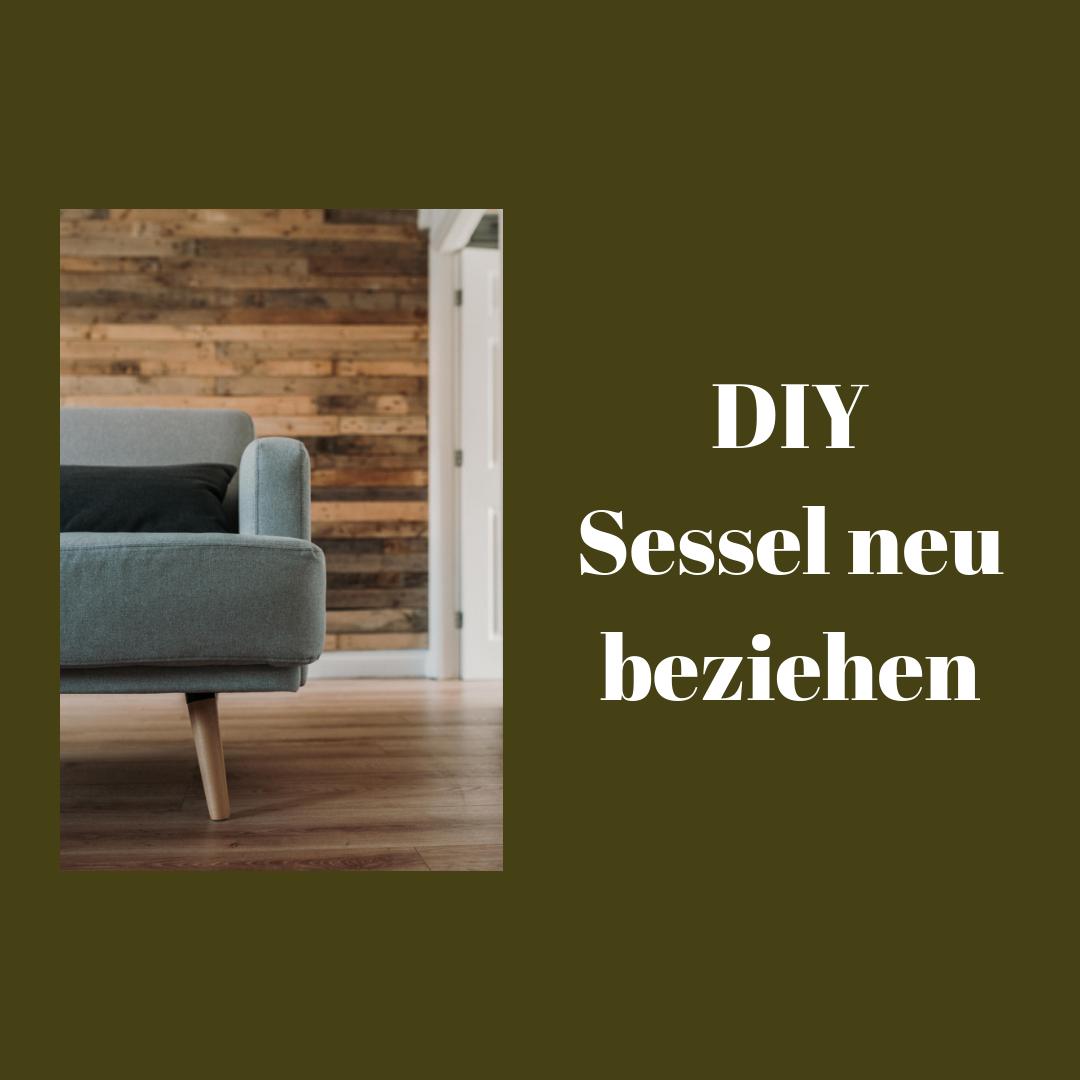 DIY Sessel beziehen